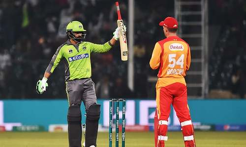 Islamabad United off to a slow start in PSL clash against Lahore Qalandars