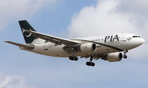 PIA plane's door opens during landing