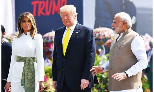 ڈونلڈ ٹرمپ کا پہلا دورہ بھارت