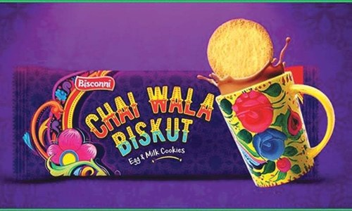 Bisconni's dunk into Chai Wala Biskut