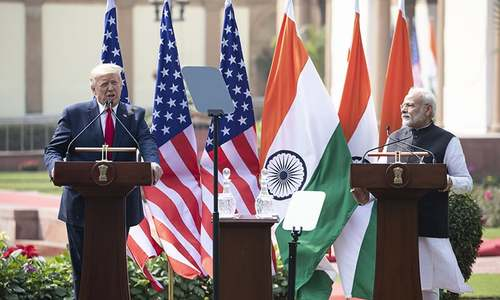 After raucous welcome in India, Trump clinches $3bn military equipment sale