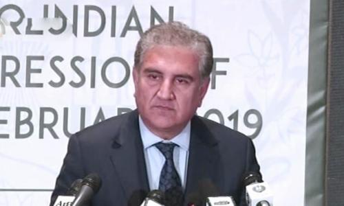 27 فروری کو پاکستان نے بھارتی جارحیت کا موثر جواب دیا، شاہ محمود قریشی
