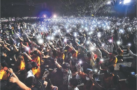 Thai rallies protest party's dissolution