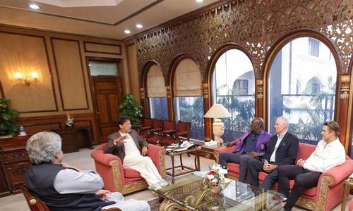 وزیراعظم سے ویوین رچرڈز، گریگ چیپل اور واٹسن کی ملاقات