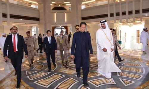 PM Imran meets Qatar Emir on daylong visit to Doha