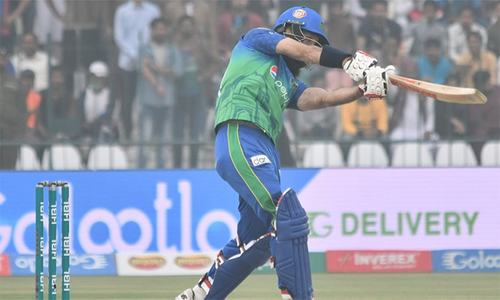 Karachi Kings 46-2 in pursuit of 187-run target against Multan Sultans