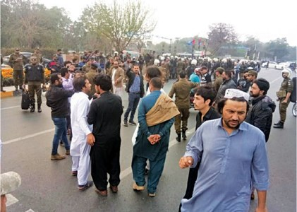 PU clash leaves 10 guards, 8 students injured