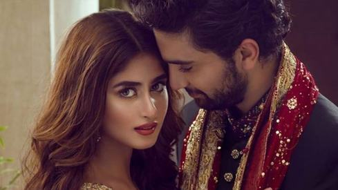 Ahad Raza Mir and Sajal Aly have started handing out their wedding cards