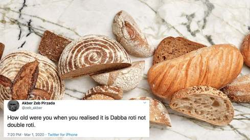 Is it double roti or dabba roti? Desi Twitter debates bread