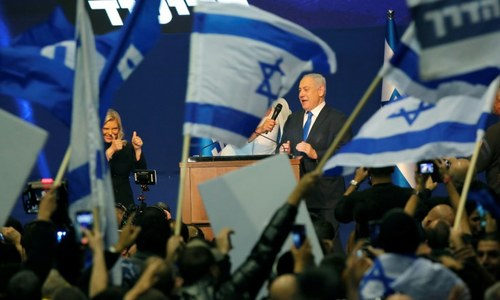 Indicted Netanyahu claims victory in Israel vote