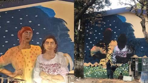 Aurat March's beautiful mural was vandalised in Islamabad. Are men really that afraid?