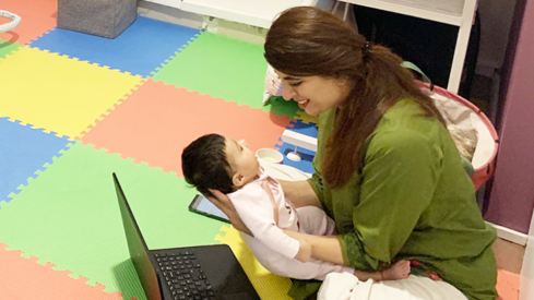 This digital agency in Karachi is helping new moms bring babies to work. Here's how