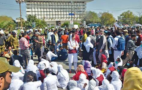 Doctors, paramedics stage sit-in against MTI Act