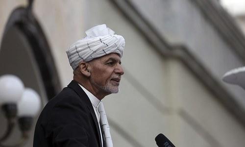 Rockets mar Ghani's swearing-in as rival inaugurates self