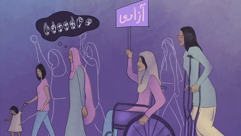 Karachi's Frere Hall is inaccessible to people with disabilities. Aurat March made it inclusive