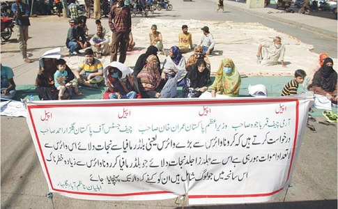 Three SBCA officials held over building collapse amid protest by affected people