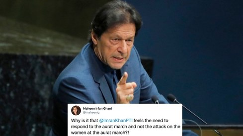 PM Imran Khan says Aurat March is a result of cultural differences like it's a bad thing