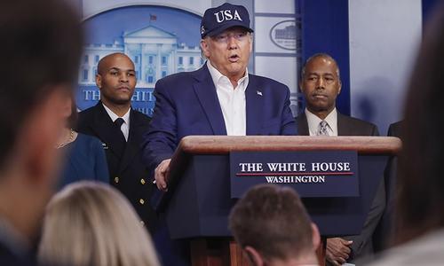 Trump says he has taken coronavirus test, no result yet