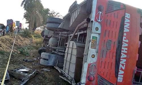 Five pilgrims killed as bus overturns