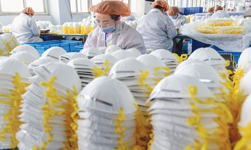Booming mask production in China meets global demand
