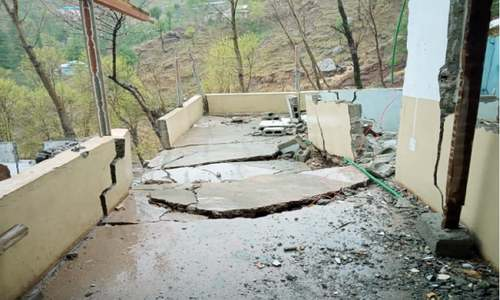 Homes damaged in heavy landslides