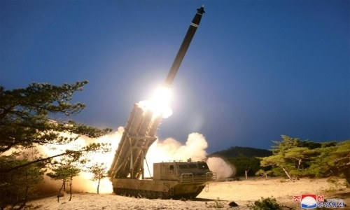 North Korea says tested 'super-large' rocket launchers