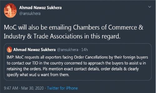Trade officers to work on export order cancellations