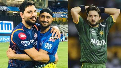 Yuvraj Singh, Harbhajan Singh spark outrage by donating to Shahid Afridi's charity
