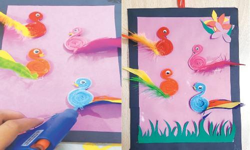 Wonder Craft: Chenille birds on canvas