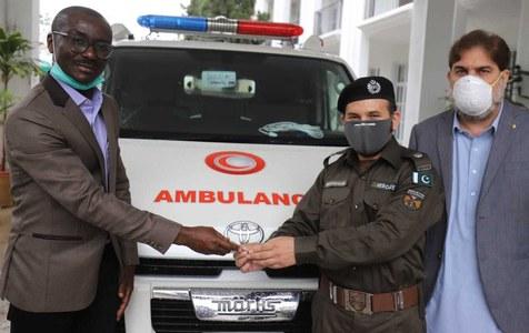 یواین ایچ سی آر کا کے پی حکومت کو ایمبولینسز کا عطیہ