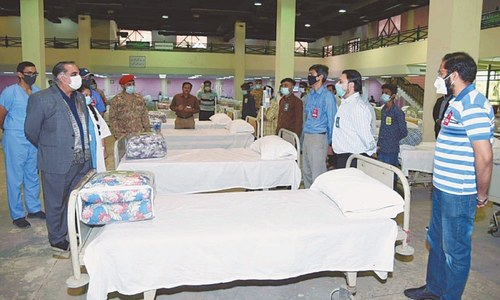 Sindh governor reviews arrangements at isolation centre