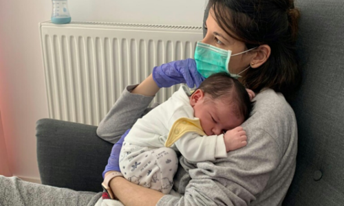 'Still haven't touched my son without gloves': A mum with coronavirus on giving birth
