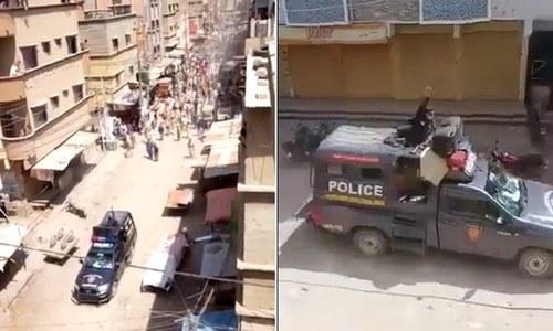 کراچی: نماز جمعہ کے 'اجتماع سے روکنے پر' شہریوں کا پولیس پر حملہ