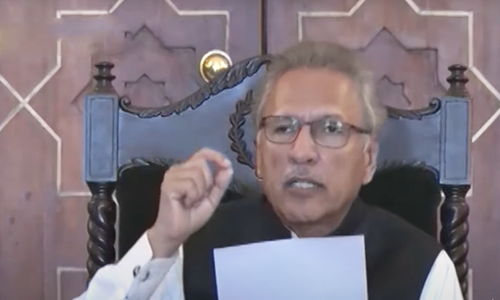 President Alvi outlines plan agreed with ulema on congregational prayers during Ramazan