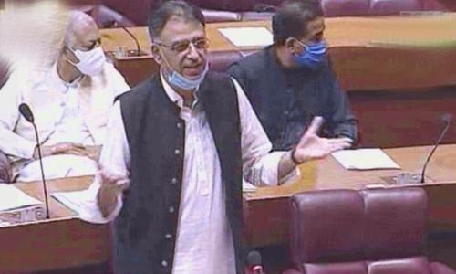 Asad Umar says healthcare system not at risk of collapsing despite rising coronavirus cases