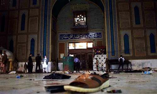 Two 'IS militants' get death on 70 counts in Qalandar shrine suicide blast case