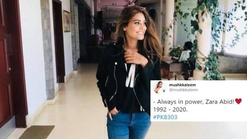 Celebs remember Zara Abid as she passes away in plane crash