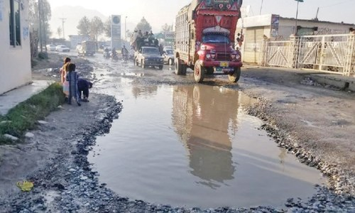 Inayat Kallay-Munda Road in bad shape