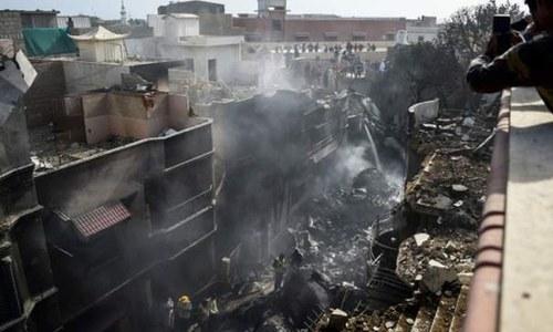 طیارہ حادثے سے متاثرہ مکانات کے نقصان کا جائزہ لینے کیلئے سروے