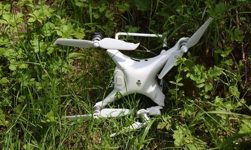 Pakistan Army downs another Indian spy quadcopter in AJK