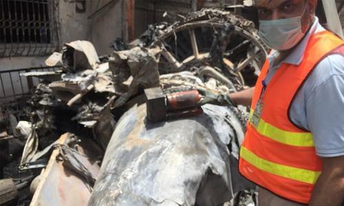 کراچی میں تباہ ہونے والے طیارے کا کاک پٹ وائس ریکارڈر مل گیا
