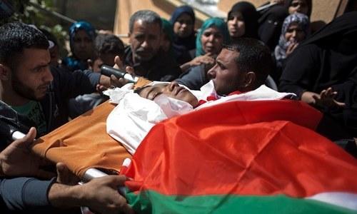 اسرائیلی پولیس کی فائرنگ سے ایک فلسطینی جاں بحق