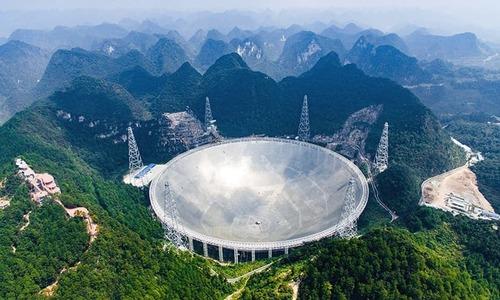 چین کی ریڈیو دوربین خلائی مخلوق تلاش کرنے کے لیے تیار