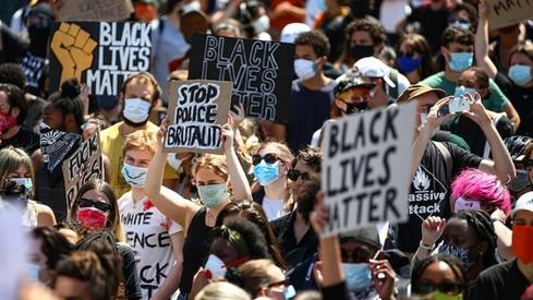 Hollywood stars come out on the streets for historic Black Lives Matter protests
