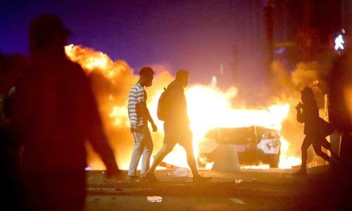 سیاہ فام کی ہلاکت پر امریکا بھر میں پرتشدد مظاہرے