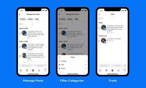 فیس بک میں اب برسوں پرانی پوسٹس بیک وقت ڈیلیٹ کرنا ممکن