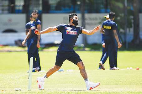 SL cricketers train together