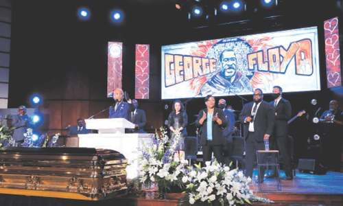 George Floyd eulogised at Minneapolis memorial service