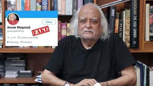 Anwar Maqsood calls out fake social media accounts