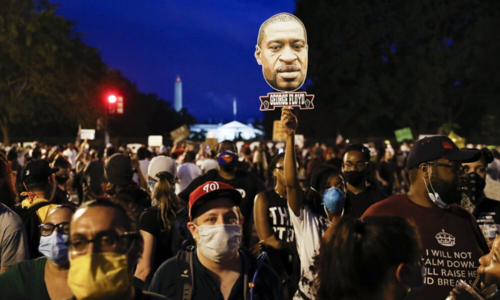 Largely peaceful protests against police brutality march on in US